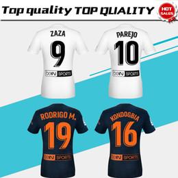 eb905cb42  10 PAREJO home white Soccer Jerseys 18 19   9 ZAZA away blue Soccer Shirt  2019 club team football uniform Sales
