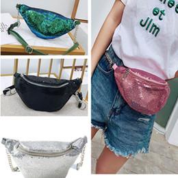 $enCountryForm.capitalKeyWord NZ - Women Sequins Fanny Pack Glitter Waist Bags Girls Mermaid Purse Pocket Beach Travel HandBag Cosmetic Makeup Bag PU leather Belt Totes