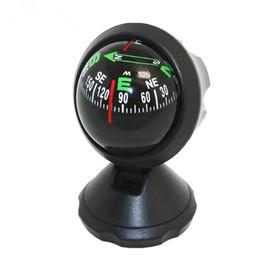 LC550A Car Guide Ball Car Bussola Uso multiplo della bussola Ornamenti decorativi Regalo di piccola dimensione Colore nero in Offerta