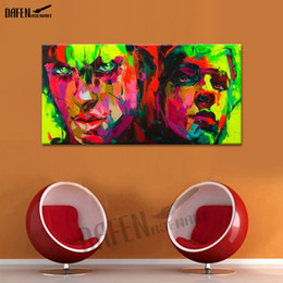 Bar Paintings NZ - Lover Couple Hand painted Oil Painting On Canvas Palette Knife Figure Painting for Modern Bar Dinning Room Bedroom Wall Decor