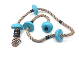 $enCountryForm.capitalKeyWord Australia - Wholesale-Children Kids Five Knotted Disc Climbing PP Rope Baby Garden Playground Backyard Outdoor Games Equipment Toys S321
