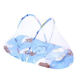 $enCountryForm.capitalKeyWord UK - New Portable Newborn Baby Bed Cradle Crib with Folding Mosquito Net Infant Cushion Mattress Pillow Mobile Bedding Crib Netting Set