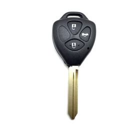 Toyota Replacement Canada - car key case for Toyota Crown 3 buttons remote car key shell Replacement key case shell for toyota TOY47 blade