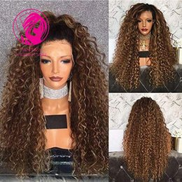 $enCountryForm.capitalKeyWord Australia - Fantasy Full Lace Human Hair Wig 180% Ombre Color Loose Curly Brazilian Virgin Hair Natural Pre-plucked Full Lace Wigs With Baby Hair