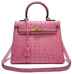 italy women bags 2019 - crocodile handbag brand new bags shoulder tote 3D emboss ostrich wholesale women tote purse Italy UK France genuine leat