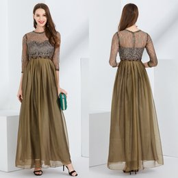Vintage Lace Mother Bride Canada - 2018 Newest Dark Green Beaded Lace Mother Of The Bride Dresses with Long Sleeves Vintage Lace Formal Evening Dress Party Gowns