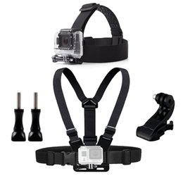 head mounts for action camera Canada - Chest Head Belt Mount For Gopro Hero 5 4 accessories Set SJCAM SJ4000 Action Camera Go pro J mount for Head Harness Strap