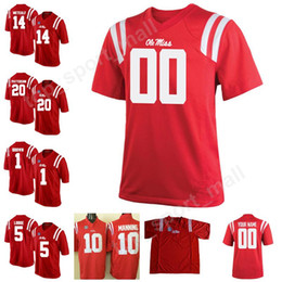 Man Kids College 14 DK Metcalf Jersey Ole Miss Rebels 10 Taamu 20 Shea  Patterson Football Jerseys Stitched Make Custom Personalized Red 480d5ba89