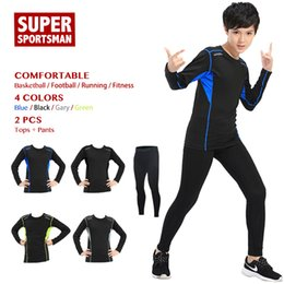 78cf857c540 Children Sport Suit Kids Workout Fitness Clothes Gym Clothing Men Boys  Training Sportswear Running Tracksuit Jogging Sets Tights