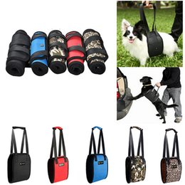 Wholesale 5 Colors Portable Dog Lift Support Auxiliary Belt Rehabilitation Harness Assist Sling For Elderly and Sick Pet S XL