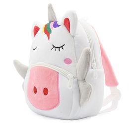 94690fee4c Toddler Unicorn Backpack Cartone animato Borsa da viaggio peluche Bookbag  Zoo Borsa da viaggio Little Girls Boys Animal Zaini