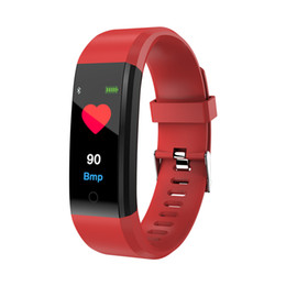 $enCountryForm.capitalKeyWord UK - Color Sreen Smart Fitness Bracelet Tracker Heart Rate Blood Pressure Monitor Passometer Smart Band Watch Wristband for iPhone Samsung