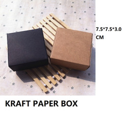 $enCountryForm.capitalKeyWord NZ - Kraft paper Packaging box Small size Packing paper box cardboard Carton For Ornament jewelry Handmade soap box Gift Black
