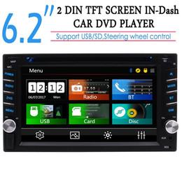 stereo dvd player Canada - Double 2din 6.2'' Capacitive Touch Screen Car Audio Stereo Headunit Car DVD CD MP3 Player Autoradio Car Radio FM AM RDS Subwoofer