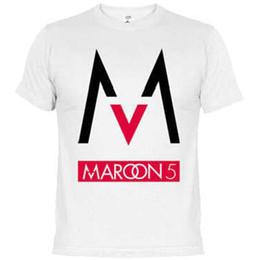 $enCountryForm.capitalKeyWord Canada - Maroon 5 t shirt Rock band short sleeve gown Letter leisure tees Unisex clothing Pure color Tshirt