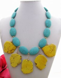 $enCountryForm.capitalKeyWord NZ - N092207 Beautiful! Blue Yellow Necklace