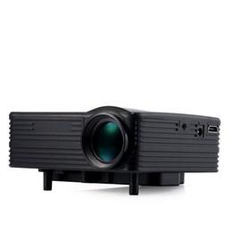 Multimedia Player Vga Australia - LED Portable Projector Mini LCD Multimedia Player Home Theater Cinema With AV VGA TV USB HDMI Interfaces 1080P Video Games Projector Beamer