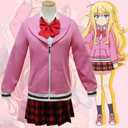 Anime White Uniforms NZ - Asian Size Japan Anime Gabriel DropOut Tenma Gabriel White Cosplay Costume Girl Party Uniforms Full Set