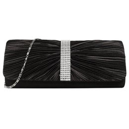 80686b68abfa Fashion Boutique Elegant Ladies Satin Diamond Ruffle Party Prom Handbag  With Long Chain Bridal Evening Envelope Clutch Bag