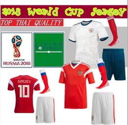 8ce994029 18 19 Russia Soccer Jersey kit 2018 2019 world cup VAZIN POLOZ GLUSHAKOV  ARSHAVIN DZAGOEV KOKORIN DZYUBA adult Football Shirts uniform