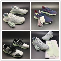 0fa39a3489254 TOP Futurecraft 4D Print Run Shoes Invincible x Consortium Runner 4D Y-3  Runner 4D Grey Blue Black Mens Designer Sports Sneakers