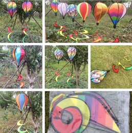 $enCountryForm.capitalKeyWord NZ - Hot Windsock Hot Air Balloon 6 Styles Wind Spinner with Rainbow Stripe Garden Yard Outdoor Garden Decorations I414