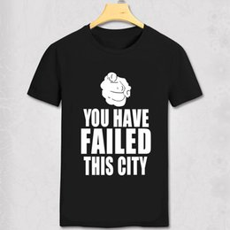$enCountryForm.capitalKeyWord NZ - TV Series Show Green Arrow T-shirts Oliver Queen You Have Failed This City T Shirts Men Top Tees Summer Casual Fashion Tshirts