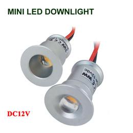 Pequeno led downlight plafon LED Lâmpada de luz de teto Mini Recesso LED Downlight Iluminação do armário 1W 3V Pot Light White Warm venda por atacado