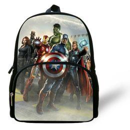 12 inch Mochila Captain America Backpack Kids School Bags For Boys Avengers  Bag Hulk Ironman Backpack Child Mochilas Infantis Y18100805 ea48545ff36d7