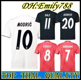 94fbdc9066d Real madrid 2019 RONALDO ASENSIO BALE ISCO Home away 3rd soccer jersey  RAMOS BENZEMA shirt 2018 Camiseta real madrid football kit jerseys