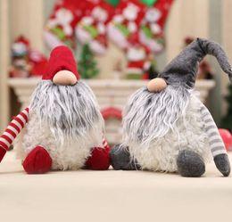 kids desktop 2019 - 30cm Swedish Santa Gnome Plush Handmade Scandinavian Plush Desktop Ornaments Mini Christmas Decor ornament doll KKA6216