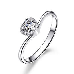 Lovely Ring Diamond NZ - Lovely Heart Shape SONA Heart Cut Diamond Engagement Ring Women 1ct 925 Silver Wedding Ring