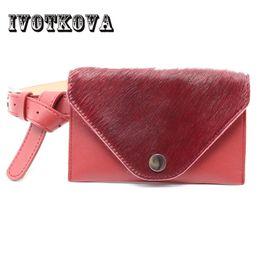 Discount funny phones - IVOTKOVA Girl Funny Belt Bag Pu Leather + Fur Young Lady Waist Packs New 2018 Fashion Women Phone Money Bags Drop Shippi