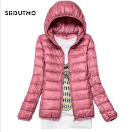 Womens Parkas Australia - SEDUTMO Winter Hooded Ultra Light Womens Down Jackets Plus Size 4XL Duck Down Doat Short Slim Puffer Jacket Autumn Parkas ED047 S1031