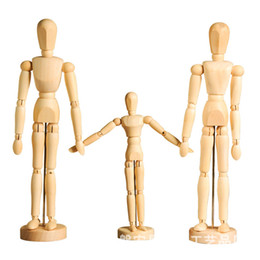 art parts 2018 - Artist Movable Limbs Male Wooden Toy Figure Model Mannequin bjd Art Sketch Draw Action Figures Toy 5.5-8 inch OTH881 che