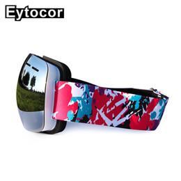 Coating Mirror NZ - EYTOCOR UV400 TPU Frame Magnetic Ski Goggles with Quick-change Lens Mirror Coating Lens Masks for Snowboarding Ski Glassess