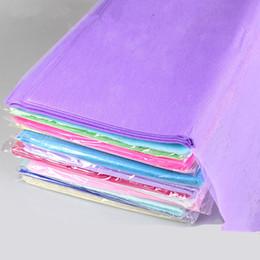 Florist Paper NZ - 300pcs 50X50cm DIY Tissue Paper Wrapping Fiber Texture Floral Wraps Florist Flower Packing Paper Package Decoration Party Supplies