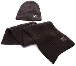 c0de5b4c252bf Hot Sale New Fashion Winter And Autumn Warm Hat High Quality Cap Men Women  Scarf Hats Knitted Caps Scarf Adjustable