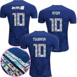 88cd09c47 2018 Japan soccer jersey ATOM 10 CARTOON NUMBER Japan 18 2019 Tsubasa KAGAWA  ENDO OKAZAKI NAGATOMO HASEBE KAMAMOTO Football kit Shirt