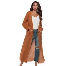 $enCountryForm.capitalKeyWord UK - Women irregular knitted long cardigans sweater coat long sleeve open stitch for female women 2018 autumn new overcoats