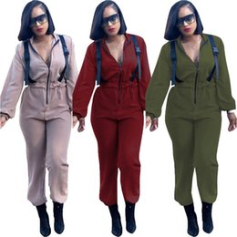 $enCountryForm.capitalKeyWord Australia - women long sleeve jumpsuit sexy romper elegant fashion loose jumpsuit pullover zipper comfortable clubwear hot u3