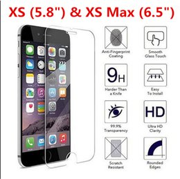 $enCountryForm.capitalKeyWord NZ - 9H 0.30mm 2.5D Ultra HD Premium Real Tempered Glass Film Screen Protector for iPhone XS Max & XS DHL Free Shipping (702IPDHL100)