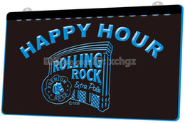 rolling rock beer signs 2019 - [F1270] Rolling Rock Beer Happy Hour Bar NEW 3D Engraving LED Light Sign Customize on Demand 8 colors