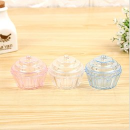 ice cream container wholesale 2019 - Free Shipping New Arrival Cake & Ice Cream Design Storage Box Cookie Tin Case Multi-use Storage Container Hot Selling jc