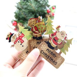 Gift Craft Christmas Ornament Australia - 3PCS Merry Christmas Craft DIY Wooden Pendants Ornaments Xmas Tree Ornament For Home Decor Christmas Party Decorations Kids Gift Y18102609