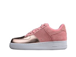 Pink Rugby Canada - Air Fashion Sakura Pink Girl 2018 Rose Gold Casual Shoes Limited Edition TOP Quality Designer Skateboard Shoes With Box
