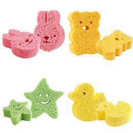 $enCountryForm.capitalKeyWord Australia - Baby Bath Sponge Loofah Infant Shower Cotton Scrub Body Bath Brushes Spa Sponge Cleaning Scrub soft for baby