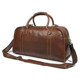 22c6893b1960 Men Cowhide Large Capacity Travel Bag For Man Handbag 2018 Male Travel  Duffle weekend durable Shoulder Crossbody Laptop bags