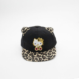 Children Ponytail Baseball Cap Cute Cat Leopard Print Hat Kid A Cap for A Boy  Girl Children Casual Bone Panama Sun Snapback Hats fc4e2801ac48