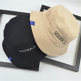 9d9f9c77dbc 2018 New Arrival Cotton Korean Style Fishman Cap with Wide Eaves and Flat  Top Letters Embroidered Letter Plain Stripes